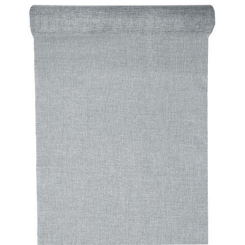 5 meter leinen tischl ufer in hellgrau 28 cm. Black Bedroom Furniture Sets. Home Design Ideas