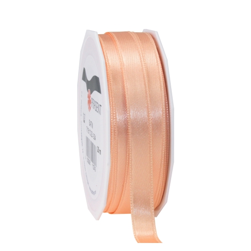 25 Meter Satin Band in Apricot, 10 mm.