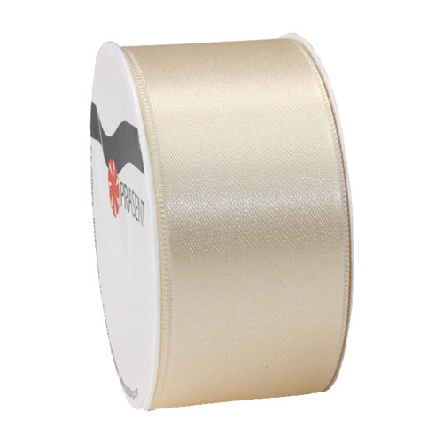 5 Meter Satin Band, schmal, in Creme, 40 mm.