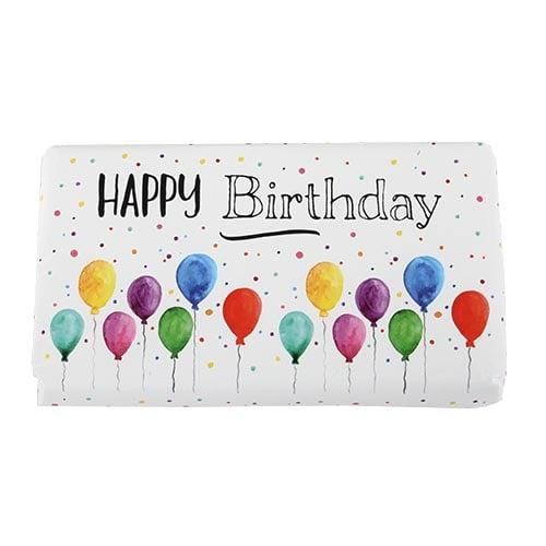 schokolade happy birthday luftballons. Black Bedroom Furniture Sets. Home Design Ideas