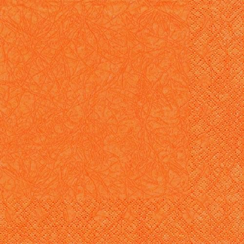 20er Pack Servietten Modern Colors orange, 33 x 33 cm.