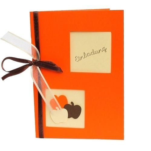 Einladungskarte herbst in der farbe nektarine 120 x 169 for Tafel deko