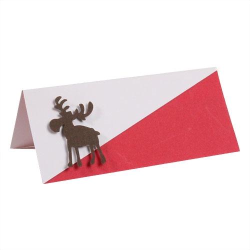 tischkarten zu weihnachten in bl tenwei rot. Black Bedroom Furniture Sets. Home Design Ideas