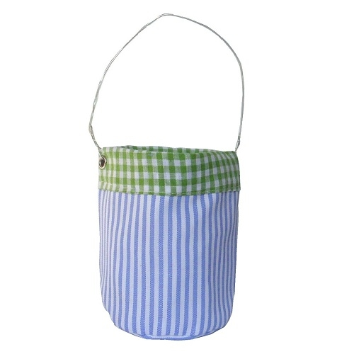 Outdoor windlicht 15 cm blau gestreift und karos mit for Windlicht outdoor