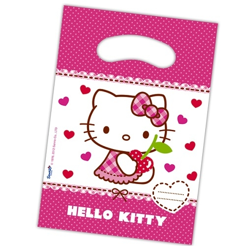 6er Pack Mitgebsel Partytüten Hello Kitty Hearts