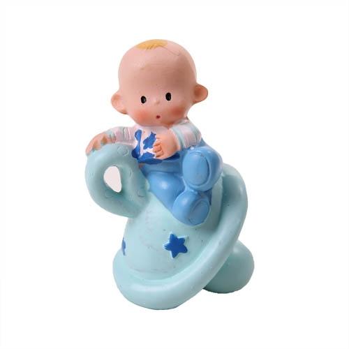 deko baby auf schnuller in blau 65 mm. Black Bedroom Furniture Sets. Home Design Ideas