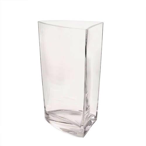 Design Glasvase Lieke dreieckig, 25 cm
