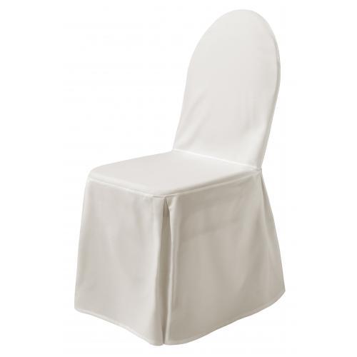 stretch husse f r st hle in creme. Black Bedroom Furniture Sets. Home Design Ideas