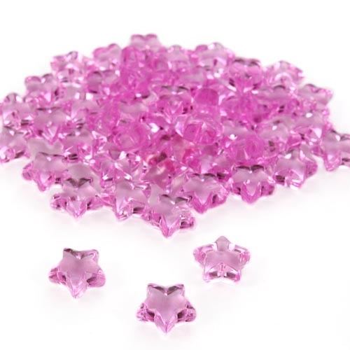 50 Deko Diamantsterne in Pink