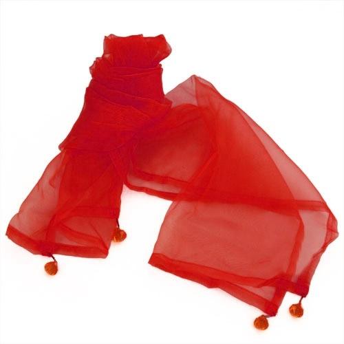 Organza dekostoff tischl ufer mit deko kristallen in rot - Organza dekostoff rollen ...