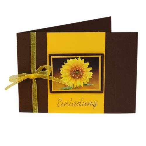einladungskarte sonnenblume – sleepwells, Einladungsentwurf