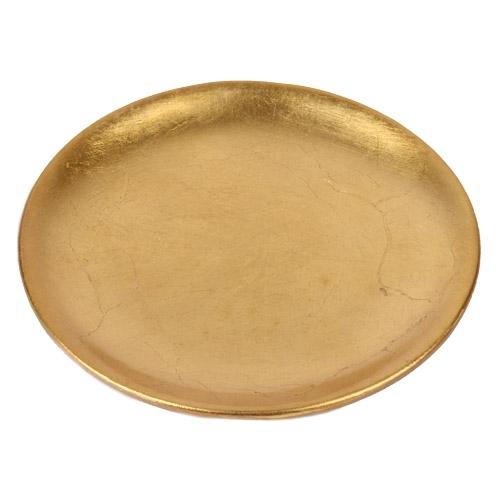 keramik kerzenteller in gold 11 5 cm. Black Bedroom Furniture Sets. Home Design Ideas