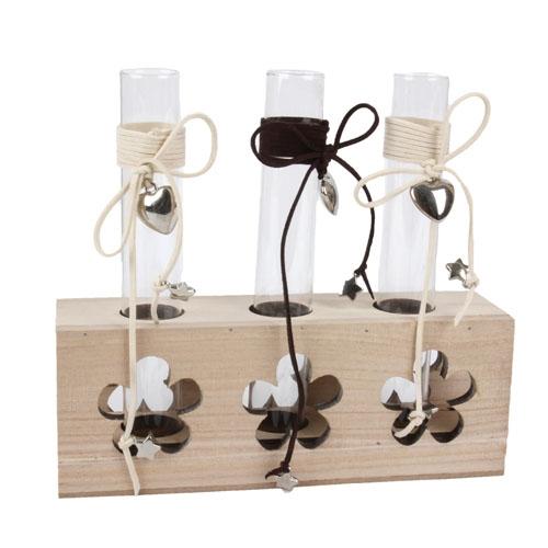 tischvase r hrchentrio mit herzanh nger. Black Bedroom Furniture Sets. Home Design Ideas