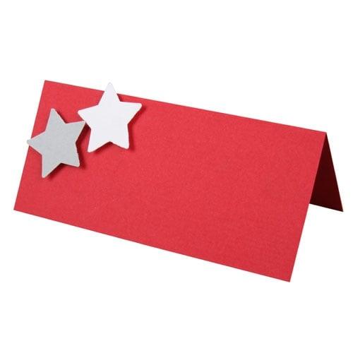 tischkarte weihnachten in rot grau. Black Bedroom Furniture Sets. Home Design Ideas