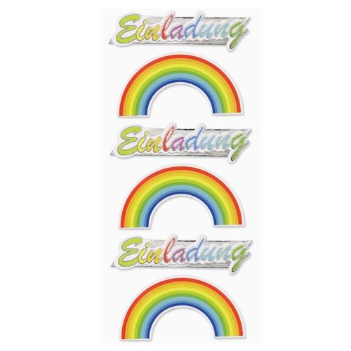 klebe sticker einladung regenbogen zur kommunion oder konfirmation, Einladungsentwurf
