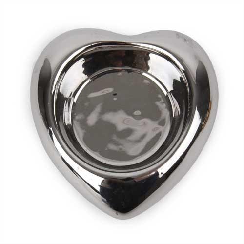 Keramik Teelichthalter Herz In Silber Ebay