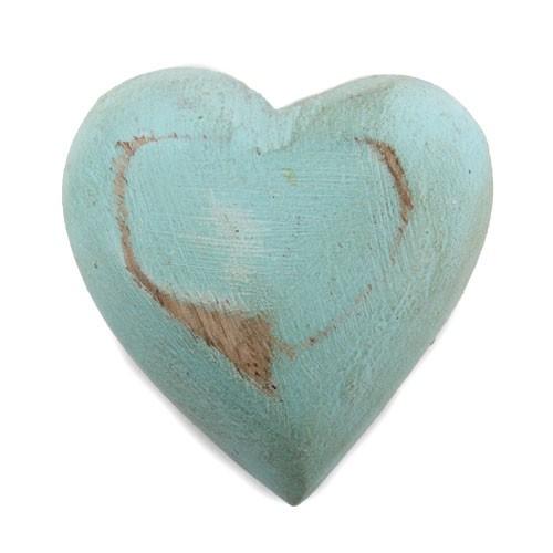 Herz aus Mangoholz in Jade Bild 1