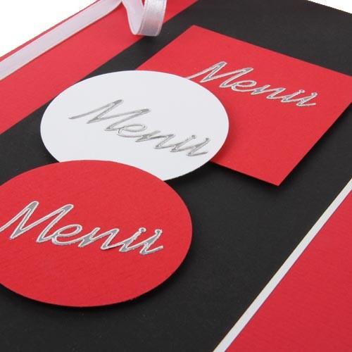 Men karte fr hling in rot schwarz for Tischdeko rot schwarz