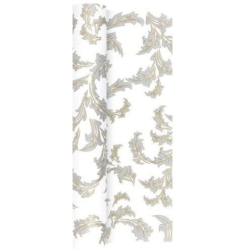 4 9 meter papier tischl ufer ornamentmotiv in gold silber. Black Bedroom Furniture Sets. Home Design Ideas