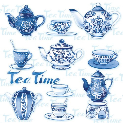 20er Pack Servietten Tea Time 33 x 33 cm