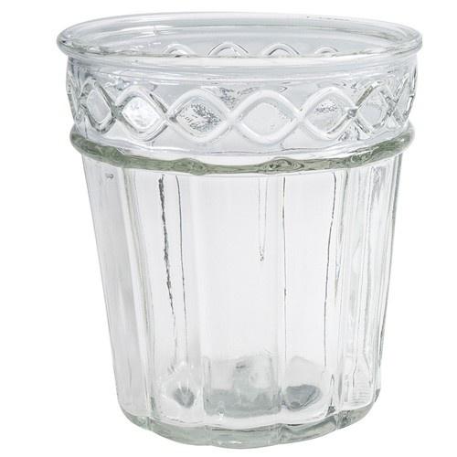 glas vase vintage f r kerzen und blumen 15 cm nr 2. Black Bedroom Furniture Sets. Home Design Ideas