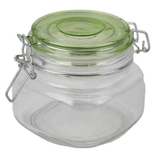 deko einmachglas kerzenglas in gr n. Black Bedroom Furniture Sets. Home Design Ideas