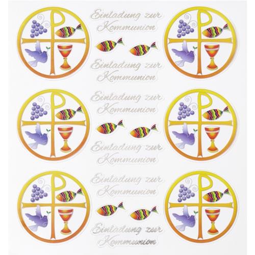 Klebe Sticker Christliche Symbole Einladung Zur Kommunion Ebay
