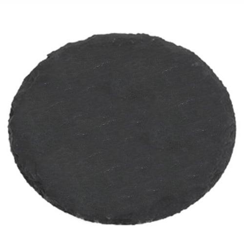 Schieferplatte rund 20 cm for Dekosteine rund