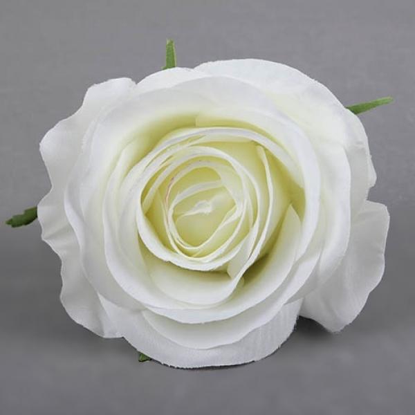 Kunstblume rosenkopf in creme 90 mm tafeldeko for Tafel deko