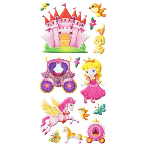 Klebe Softy Sticker Prinzessin