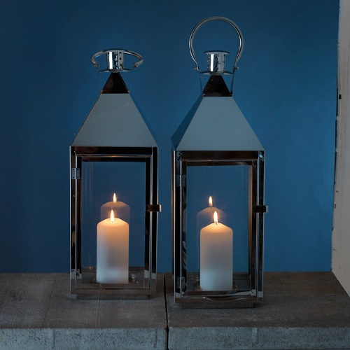 duni metall laterne thea f r drinnen und drau en 53 cm. Black Bedroom Furniture Sets. Home Design Ideas