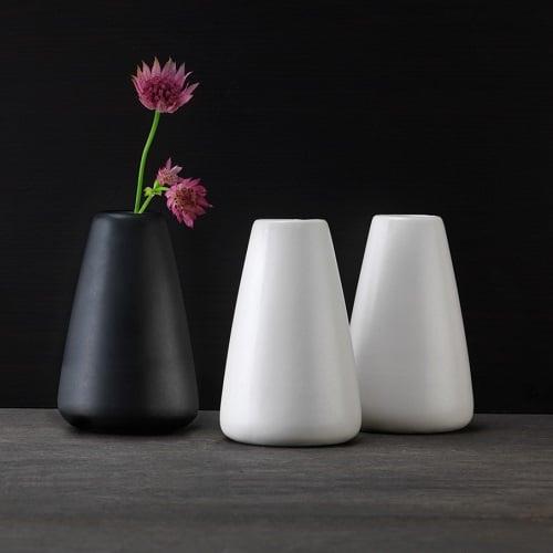 duni keramik vase simplicity in wei oder schwarz. Black Bedroom Furniture Sets. Home Design Ideas