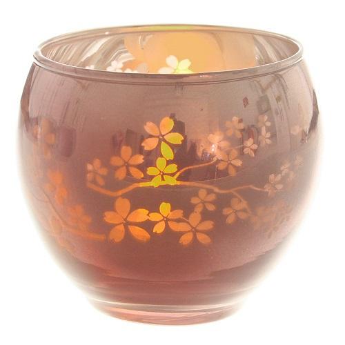 Teelichtglas rund verspiegelt in rosa 70 mm for Dekosteine rund