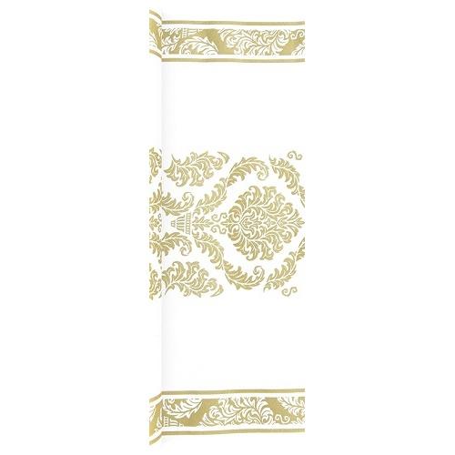4 9 meter airlaid papier tischl ufer mit ornamenten in. Black Bedroom Furniture Sets. Home Design Ideas