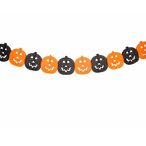 3 4 meter girlande halloween k rbis gesichter in orange - Halloween girlande ...