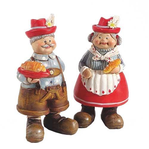 2er Set Bayrische Deko Figuren Oma Und Opa 95 Mm Ebay