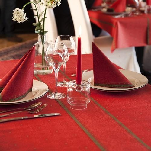 24 meter rolle duni dunicel tischl ufer festive charme red for Duni servietten weihnachten