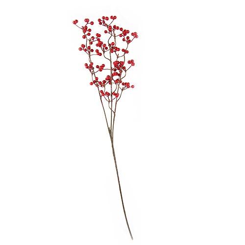 Deko Zweig Rote Beeren, 60 cm