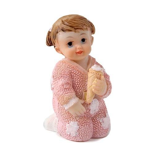 kleines deko baby m dchen mit eist te in rosa 60 mm
