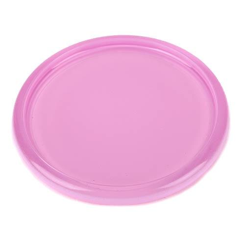 Glas kerzenteller rund in rosa 10 cm for Dekosteine rund