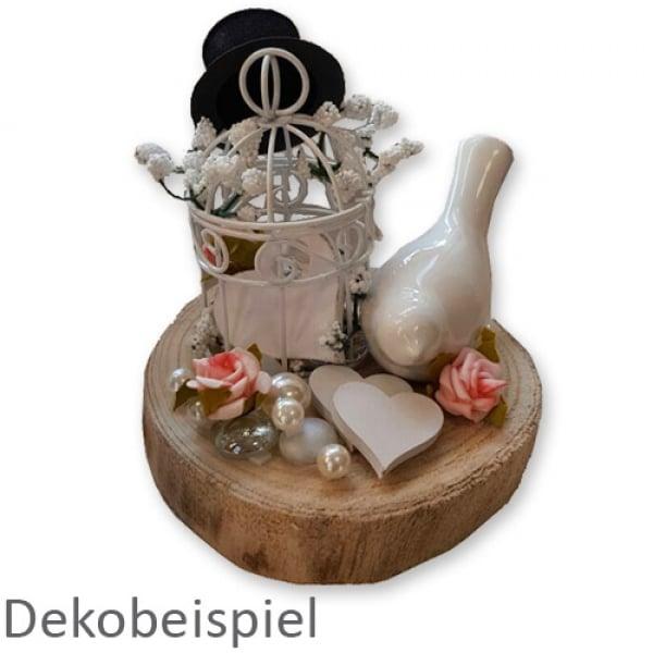 miniatur metall deko vogelk fig in wei 10 5 cm. Black Bedroom Furniture Sets. Home Design Ideas