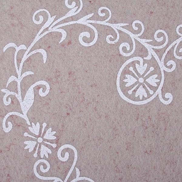filz tischset ornament herz in grau rot meliert 45 x 30 cm tafeldeko. Black Bedroom Furniture Sets. Home Design Ideas