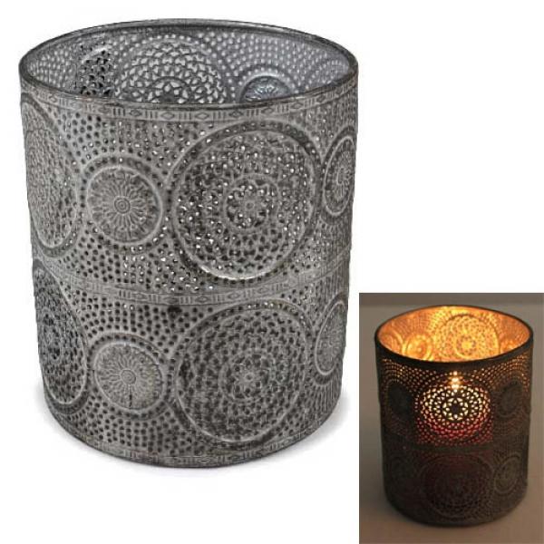 metall windlicht ornamente perry 15 cm tafeldeko. Black Bedroom Furniture Sets. Home Design Ideas