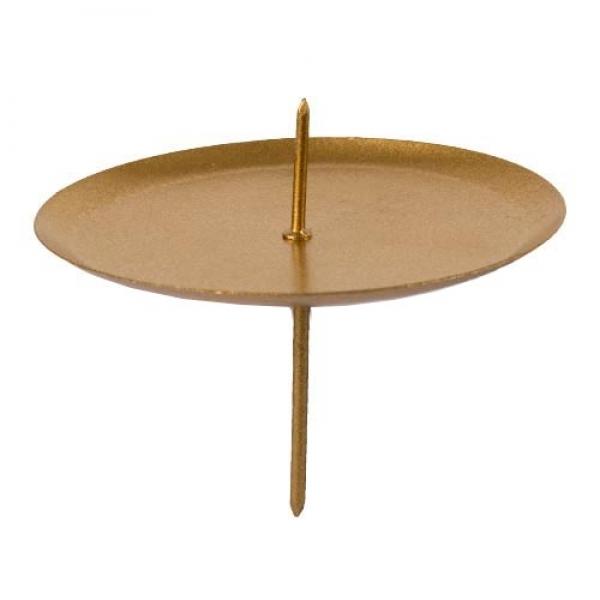 4 adventskranz kerzenhalter mit dorn in gold matt 75 mm. Black Bedroom Furniture Sets. Home Design Ideas