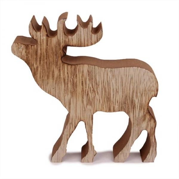 Elch aus holz aufsteller tanne mit elch aus holz deko - Kodi weihnachtsdeko ...