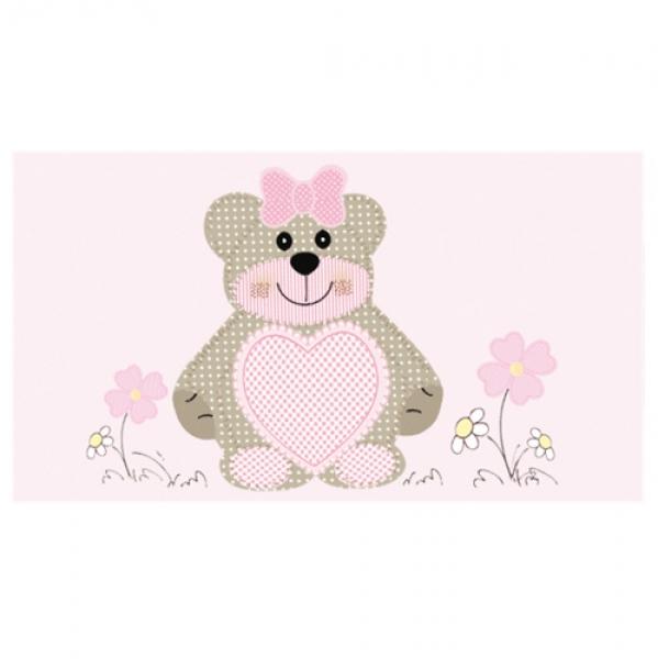 20 namensk rtchen taufe teddyb r in rosa 45 mm. Black Bedroom Furniture Sets. Home Design Ideas