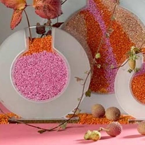 Granulat in 21 farben tafeldeko for Tafel deko