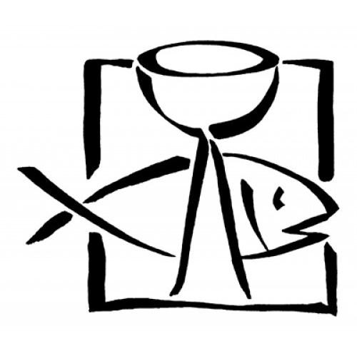 Kommunion Stempel, Fisch und Kelch in 2 Größen