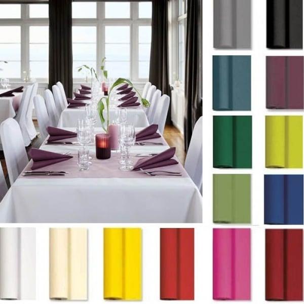 10 meter tischdeckenrolle von duni in 17 farben breite 125 cm. Black Bedroom Furniture Sets. Home Design Ideas