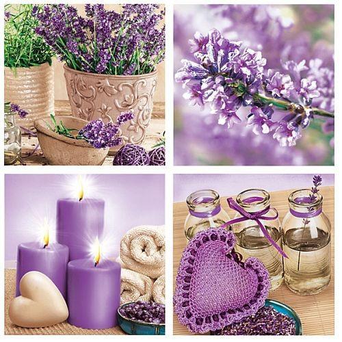 20er Pack Servietten Lavendel Harmonie 33 x 33 cm Bild 1